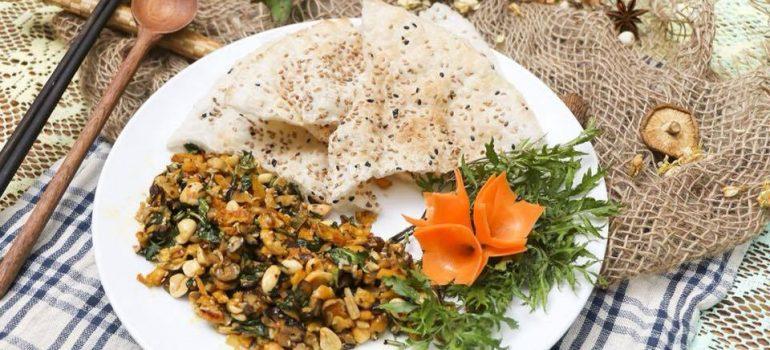 """Cách chế biến nấm đậu xúc bánh đa """" món chay thường ngày"""""""